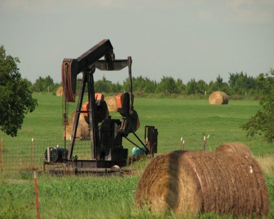 Oil pump and hay