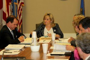 Mary Fallin in a meeting